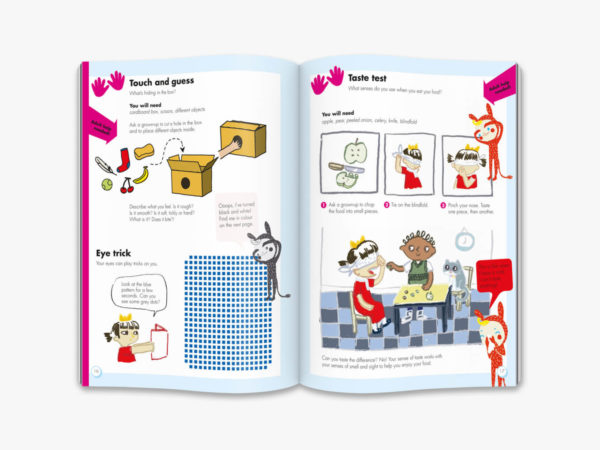 inside double page spread OKIDO magazine