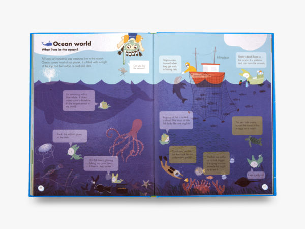 inside OKIDO book under the sea