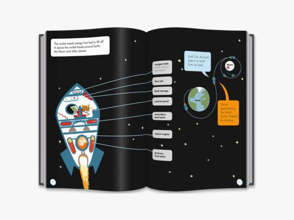 inside book rocket in space