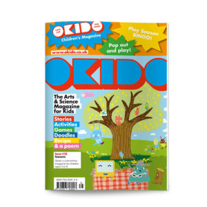 OKIDO magazine with tree on the front cover