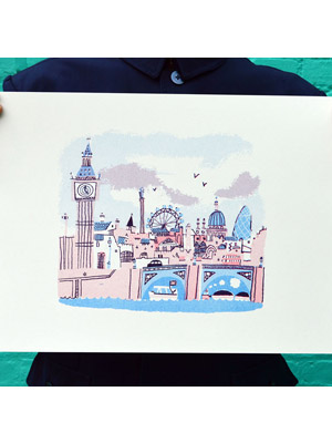 London - Alex Barrow Print