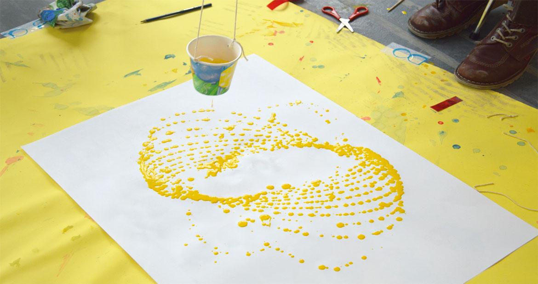 OKIDO Pendulum Paint yellow swing
