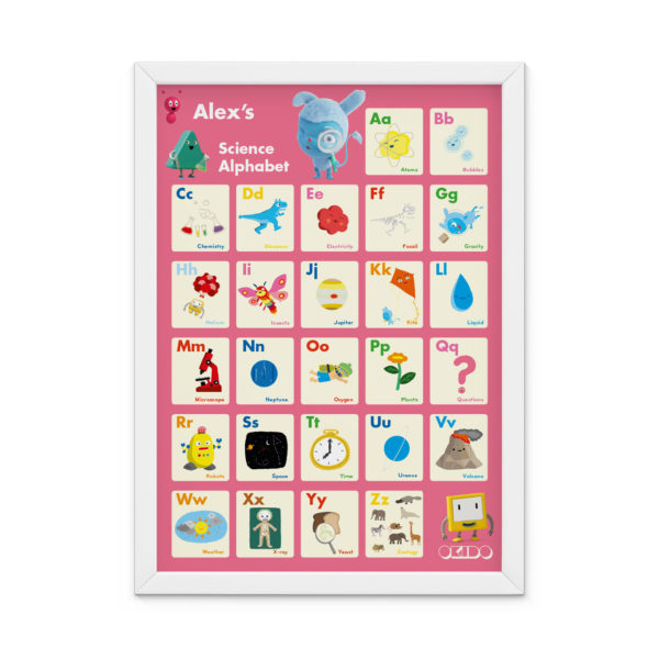 OKIDO Personalised Science Print - Pink