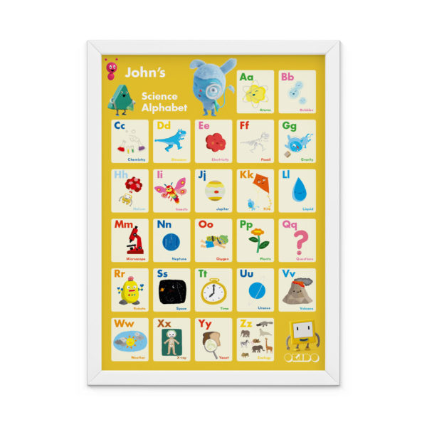 OKIDO Personalised Science Print - Yellow