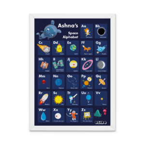 OKIDO Personalised Space Print - Dark Blue
