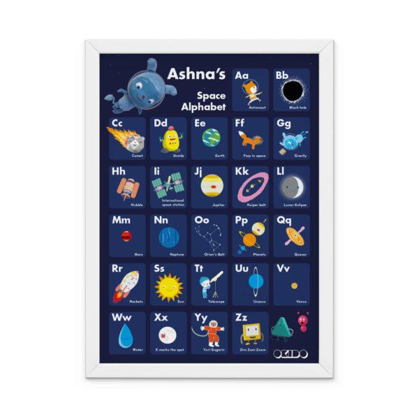 OKIDO Personalised Space Print - Dark Blue