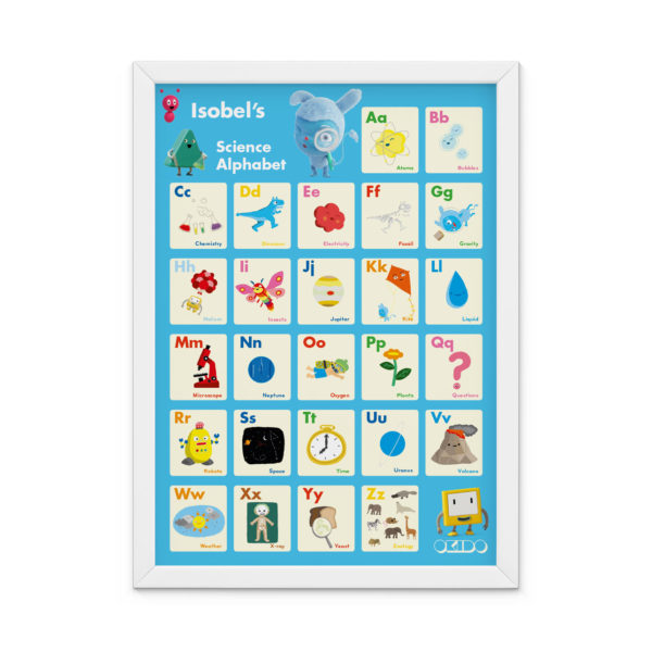 OKIDO Personalised Science Print - Light Blue
