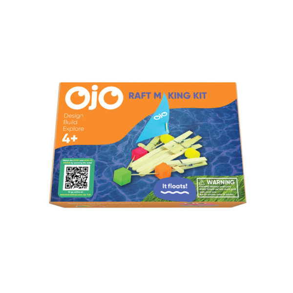 The front of the OjO Raft Making Kit