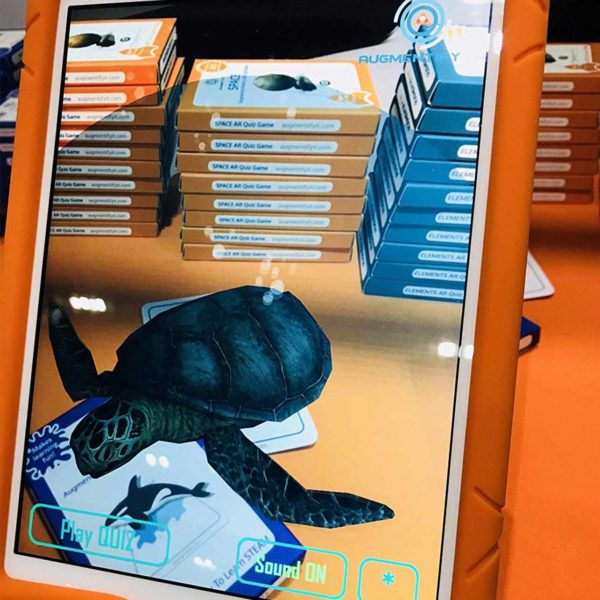 OKIDO AugmentifyIt AR OCEANS Cards Example: Turtle