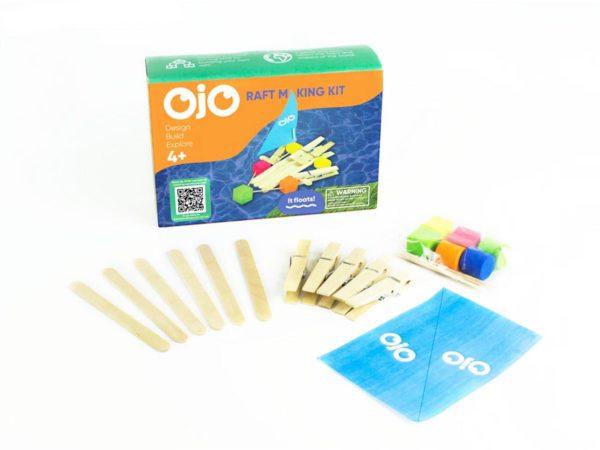 OKIDO OjO Raft Kit Contents
