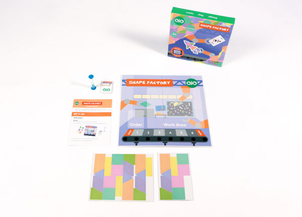 Shape factory geometry board game contents