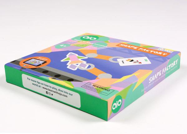 Shape factory geometry board game side